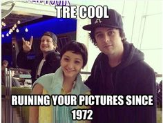 They always ruin each other's photos. Mike did it to Trè, Trè did it to Billie, Billie does it to everything else even his prom photo!