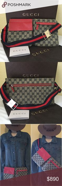 74bdfcac100 Spotted while shopping on Poshmark  Gucci Fanny Pack Cherry Line Belt Body  Bag GM!