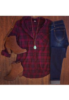 Bo Skinny Butt Lifter Jeans - Dark- love with the boots and plaid flannel. Love all parts of this