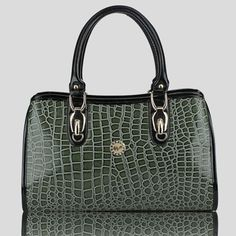 Faux Leather Work Satchel Bag