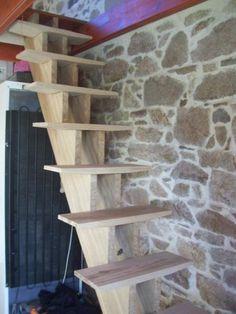 L'Air du Bois - Escalier droit double limon central