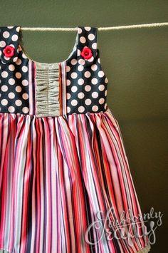 Itty Bitty Handmade Baby Dress Close Up by Stubbornly Crafty