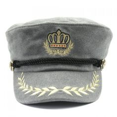 8.7$  Watch now - http://di8tu.justgood.pw/go.php?t=179750308 - Stylish Olive Leaf and Crown Embroidery Men's Faux Wool Military Hat 8.7$