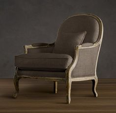 Restoration Hardware French Provincial chair.  It comes in linen and white color too.