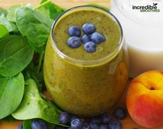 Chocoalte Peach Smoothie Recipe Chocolate-Peach Green Smoothie Recipe 1 peach, pitted 1 cup fresh pineapple, cubed 2 cups of raw baby spinach (or other greens) 1/2 cup frozen blueberries 1 tablespoon cacao powder 8 ounces of almond milk Instructions...