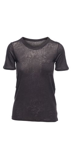 Chaser Linen Jersey Crew Neck Short Sleeve Pocket Tee in Vintage Black / Manage Products / Catalog / Magento Admin