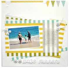 Wave Runner Scrapbook Layout Dots & Stripes Echo Park Paper