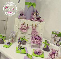 Lavender theme and handmade crochet