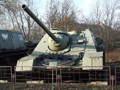 The Soviet was a tank destroyer, built starting in It was a SPG rearmed with the 85 mm in) gun. Tank Destroyer, Ww2 Tanks, Military Vehicles, Mammals, Army, Train, Universe, Museum, Polish