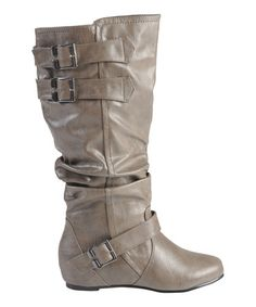 Taupe Tiffany Boot #zulily #zulilyfinds