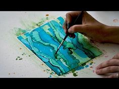 This tutorial shows how to get the alcohol ink wispy effect for gorgeous abstract art. Alcohol ink painting and embellishing step by step. Alcohol Ink Crafts, Alcohol Ink Painting, Alcohol Ink Art, Art Journal Techniques, Card Making Techniques, Painting Techniques, Painting Tutorials, Embossing Techniques, Zealand Tattoo