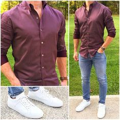 66 Super Ideas For Sneakers For Men Casual Outfit Maroon Shirt Outfit, Maroon Shirts, Casual Outfits, Fashion Outfits, Mens Fashion, Casual Shoes, Fashion Trends, Look Man, Herren Outfit