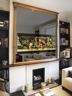 No.20 Large Gilt Regency TV Mirror