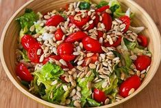 Kalyns Kitchen: Recipe for Canned Tuna and Tomato Salad with Sunflower Seeds