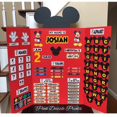 Learning Board with Mickey ears! Kindergarten Learning, Preschool Learning Activities, Preschool Curriculum, Baby Learning, Home Learning, Preschool Activities, Homeschooling, Preschool Boards, Preschool At Home