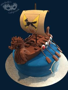 Michelle's Labyrinth Viking Ship Cake [March 2015]