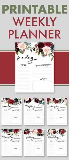 Ideas Schedule Organization Templates Weekly Planner For 2019 Free Planner, Planner Pages, Printable Planner, Free Printables, Planner Ideas, Free Daily Planner Printables, Weekly Planner Template, Printable Calendars, Project Planner