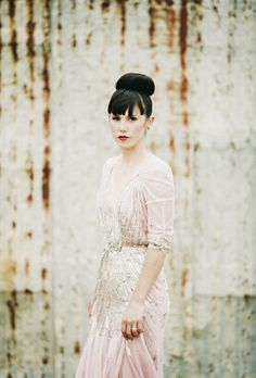 Pink and silver Jenny Packham gown!