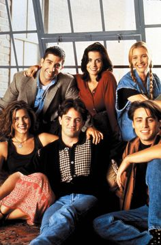 The Cast Of Friends // definitely one of the earlier seasons by the looks of their hairstyles