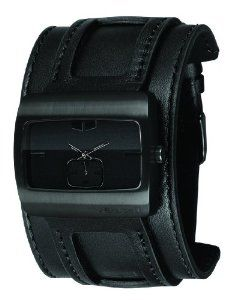 Vestal Men's SN032 Saint All Black Leather Watch Vestal. $93.00. Brings out the rocker in anyone daring enough to sport it.. Makes your guitar hero solos all the more authentic. Water-resistant to 165 feet (50 M). Premium leather cuff with raised straps