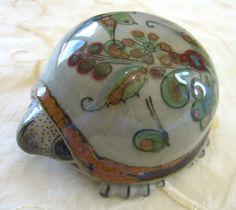 KEN EDWARDS Turtle Signed KE Tonala Mexico Vintage Mexican Art Pottery  http://r.ebay.com/ifvkA6