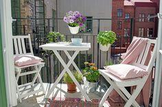 decoration extérieur petit balcon cosy