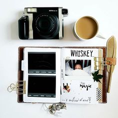 The instax WIDE 300 is perfect for capturing vivid, high-quality prints of your daily life in a travelers notebook.  Photo by @6happy1s | #fujiinstaxaus #instax300 #inspiration