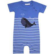 Stripe Whale Baby Romper