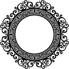 ornament border - Google 검색 Border Pattern, Pattern Design, Border Design, Doodle Frames, Mandala Artwork, Borders For Paper, Badge Design, Ornaments Design, Round Frame