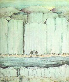 The Gates of Moria, Tolkien's own illustration.