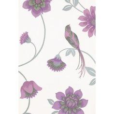 Flowers & Birds 1214-6 bij Behangwebshop