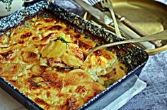 Krémes francia rakott burgonya Hungarian Recipes, Hungarian Food, French Food, Fruits And Vegetables, Quiche, Macaroni And Cheese, Side Dishes, Bacon, Food And Drink