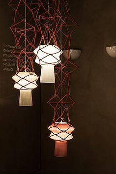 """Stelle Filanti"" Collection, for Venini · 2013 ©atelier oï Element Lighting, Lighting Design, Pendant Chandelier, Pendant Lighting, Wire Lighting, Murano Glass, Arch Light, Drop Lights, Candle Lamp"
