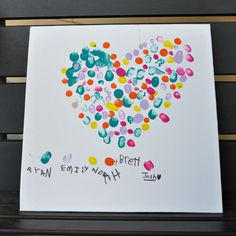 fingerprint art card
