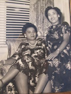 1940s Vintage Photograph African American Women in Dress Picture