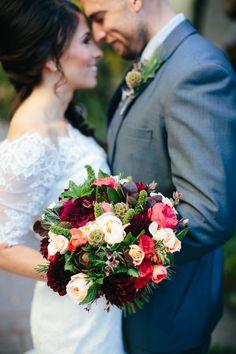 wedding bouquet, fall wedding, winter wedding