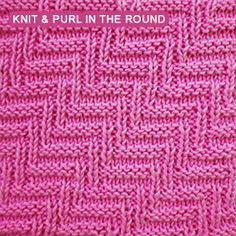 Knitting Blackberry Stitch In The Round : Only knit and purl stitches - Scales knitting Knit stitches Pinterest K...