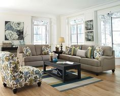 """With the unique pleated upholstered look of the stylishly shaped set-back arms and accent welting details adorning the plush comfortable cushioning, the """"Hariston-Shitake"""" upholstery collection takes the relaxed vintage style and infuses it with the comfort you have been dreaming of."""
