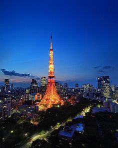 Tokyo Tower, Beautiful Sky, Landscape, Building, Photos, Instagram, Photography, Night, Business