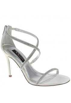 This crystal strappy sandal will play a starring role in your wardrobe.