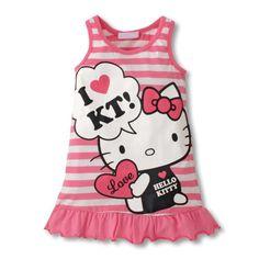 vestido infantil, transado, roupas transadas, roupa infantil, VESTIDO LOVE HELLO KITTY ROSA
