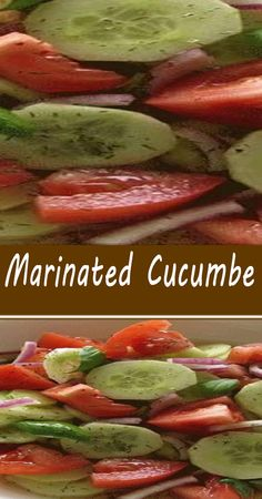 Best Salad Recipes, Cucumber Recipes, Side Dish Recipes, Vegetable Recipes, Healthy Recipes, Marinated Cucumbers, Marinated Vegetables, Brunch Recipes, Appetizer Recipes