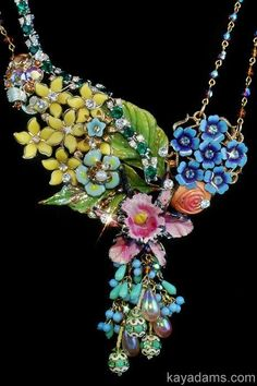 Collage Necklace  A Bouquet for Today Tomorrow Forever by Kay Adams,