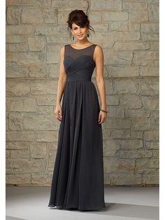 de2547b40cc6b Elegant Gray Long Mother Of Bride Dresses 2015 Custom Made Open Back  Chiffon Evening Party Gown Vestidos de fiesta Longo