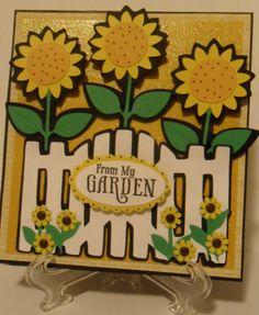Walk in My Garden Cricut Cards