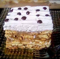 """Η Συνταγή είναι από κ. Tzeni Tsanaktsidou – """"ΑΓΑΠΑΜΕ ΜΑΓΕΙΡΙΚΗ!!!!! ΑΓΑΠΑΜΕ ΖΑΧΑΡΟΠΛΑΣΤΙΚΗ!!!!!!"""" ΥΛΙΚΑ: 2 πακετα μπισκοτα πτι μπερ παπαδοπουλου, 100 γραμμαρια κορν φλαουρ, 200 γραμμαρια βουτυρο, 1 λιτρο γαλα 200 γραμμαρια σοκολατα γαλακτος, 1 μορφατ μεταλικο κουτι, 1 ζαχαρουχο Greek Recipes, Confectionery, Vanilla Cake, Tiramisu, Cake Recipes, Sweets, Sugar, Cookies, Ethnic Recipes"""
