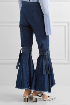 Maggie Marilyn | Firm In Her Beliefs frayed high-rise flared jeans | NET-A-PORTER.COM
