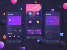 Mobile Ui, Mobile Game, Tracking App, App Ui Design, Game Ui, Mobile Design, Ui Ux, Investing, It Works