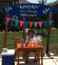 DIY lemonade stand ideas, let your kids be the boss for the day!