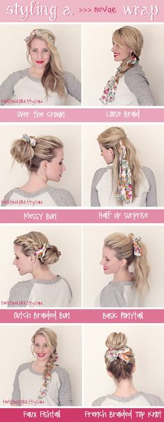 Styling a noVae Clothing Wrap. Hairstyles | Twist Me Pretty
